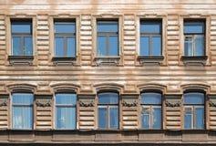 Vecchia città Windows Fotografia Stock