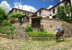 Vecchia città Zlatograd immagini stock libere da diritti