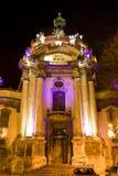 Vecchia città alla notte Fotografia Stock