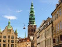 Vecchia città a Copenhaghen, Danimarca Immagini Stock