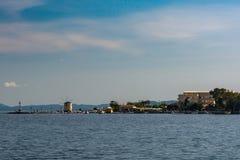 Vecchia città di Corfù del mulino a vento Fotografia Stock