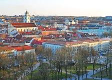 Vecchia città di Vilnius Fotografia Stock