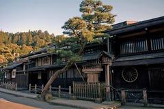 Vecchia città, Takayama, Giappone Fotografie Stock Libere da Diritti