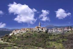Vecchia cittadina di Buzet in Istria immagini stock