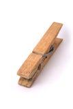 Vecchia clip di legno Fotografie Stock