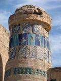 Vecchia colonna decorata Immagini Stock