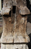 Vecchia colonna di legno antica Immagini Stock Libere da Diritti