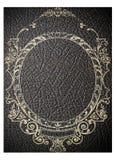 vecchia copertina di libro di cuoio nera Fotografie Stock