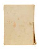 Vecchia copertina di libro lacerata isolata su fondo bianco Fotografia Stock