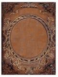 Vecchia copertina di libro marrone Immagine Stock