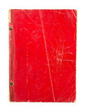 Vecchia copertina di libro rossa isolata su fondo bianco Fotografie Stock