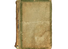 Vecchia copertura d'annata del libro Fotografie Stock