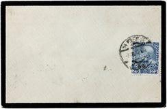 Vecchia copertura della posta Immagine Stock