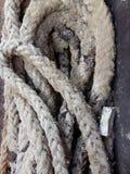 Vecchia corda con la ruggine del ferro Fotografia Stock Libera da Diritti