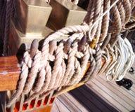 Vecchia corda marina fotografia stock