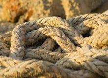 Vecchia corda marina Fotografia Stock Libera da Diritti