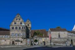 Vecchia corte a Bamberga, Franconia, Germania Immagini Stock Libere da Diritti
