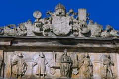 Vecchia corte a Bamberga, Franconia, Germania Fotografia Stock Libera da Diritti