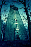 Vecchia costruzione abbandonata abbandonato frequentata Fotografia Stock
