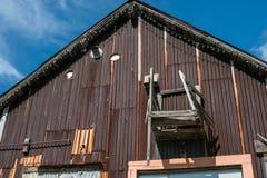 Vecchia costruzione arrugginita Fotografie Stock