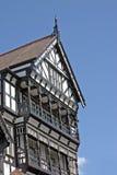 Vecchia costruzione in bianco e nero a Chester Fotografia Stock