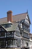 Vecchia costruzione in bianco e nero a Chester Fotografie Stock Libere da Diritti