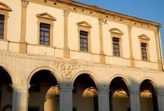 Vecchia costruzione, che alloggia il riparmio del petto del fondamento di Padova e di Rovigo, Veneto a Padova in Veneto (Italia) Fotografia Stock Libera da Diritti