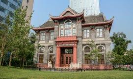 Vecchia costruzione a Chengdu, Cina fotografie stock