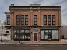 Vecchia costruzione classica di stile della banca fotografie stock libere da diritti