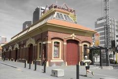 Vecchia costruzione classica situata alla dogana Quay a Wellington CBD Fotografia Stock