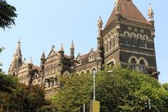 Vecchia costruzione coloniale di stile in Mumbai India Fotografie Stock Libere da Diritti