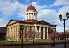 Vecchia costruzione del Campidoglio dello stato, Springfield, IL Fotografia Stock