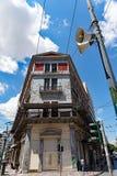 Vecchia costruzione del centro, Atene, Grecia fotografia stock libera da diritti