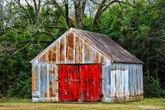 Vecchia costruzione del garage Fotografia Stock Libera da Diritti