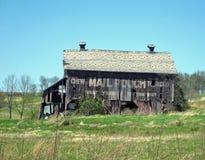 Vecchia costruzione del sacchetto di posta Immagine Stock