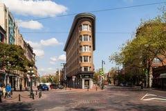 Vecchia costruzione dell'hotel di Europa a Vancouver Immagini Stock