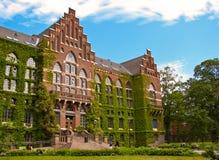 Vecchia costruzione dell'università a Lund Fotografie Stock