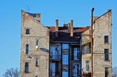 Vecchia costruzione della città Fotografie Stock Libere da Diritti