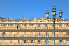 Vecchia costruzione della facciata Fotografia Stock Libera da Diritti