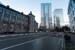 Vecchia costruzione della stazione ferroviaria di Tokyo Fotografia Stock