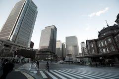 Vecchia costruzione della stazione ferroviaria di Tokyo Immagine Stock