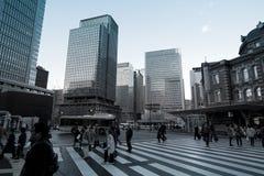 Vecchia costruzione della stazione ferroviaria di Tokyo Immagini Stock Libere da Diritti
