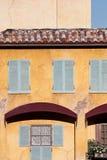Vecchia costruzione dello stucco Fotografia Stock Libera da Diritti