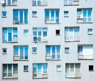 Vecchia costruzione di apartaments fatta in 70s Fotografia Stock Libera da Diritti