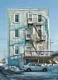 Vecchia costruzione di appartamento Immagini Stock Libere da Diritti