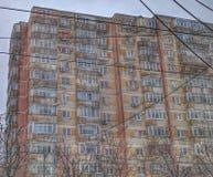 Vecchia costruzione di appartamento fotografia stock libera da diritti