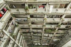 Vecchia costruzione di appartamento in Hong Kong Fotografia Stock Libera da Diritti
