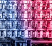 Vecchia costruzione di appartamento nel lato est più basso di Manhattan, New York Fotografia Stock Libera da Diritti