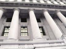 Vecchia costruzione di banca Fotografia Stock Libera da Diritti