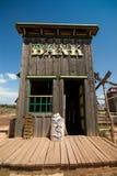 Vecchia costruzione di banca ad ovest Fotografia Stock